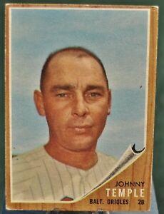 1962-Topps-Baseball-Card-34-Johnny-Temple-Baltimore-Orioles-EX