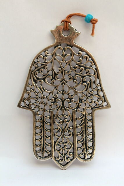 Large Lacework HAMSA Wall Hanging Decor Luck Kabbalah Amulet Charm Hand Fatima