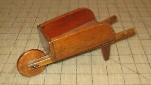 Vintage-8-034-Long-Doll-or-Doll-House-Wooden-WHEEL-BARROW-Handmade-Possibly