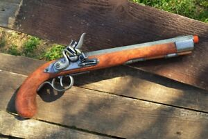 Details about Deluxe Kentucky Flintlock Pistol - Colonial - Revolutionary  War - Denix Replica