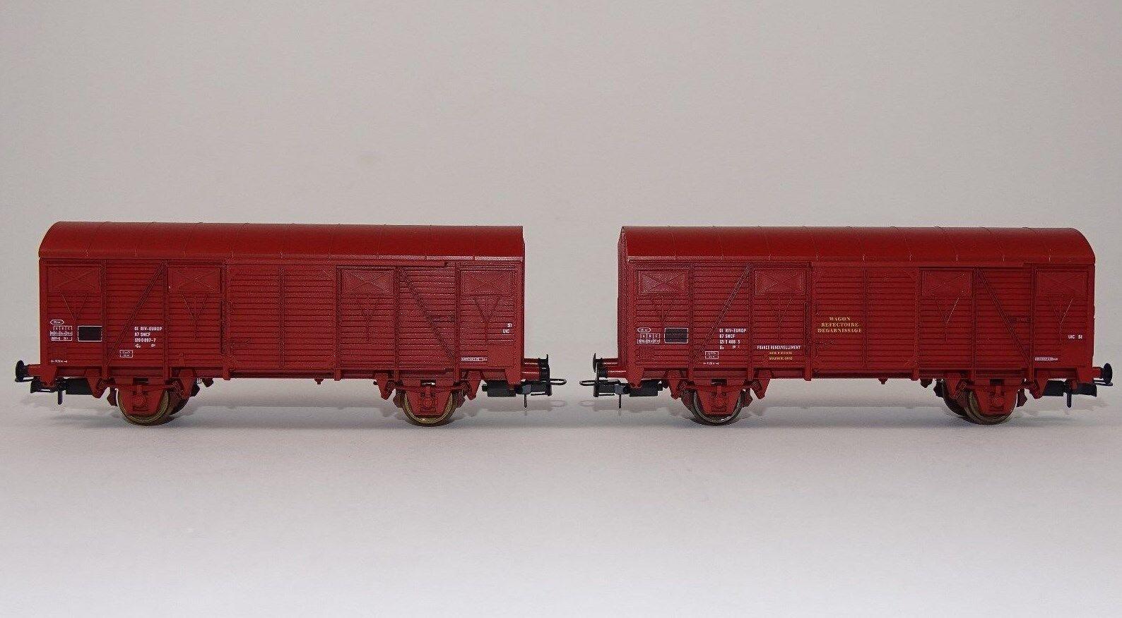 RIVAROSSI r2195 carro merci Set COFFRET contenant 2 wagons del SNCF GS EUROP