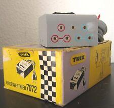 TRIX 7072 Trafo Rennbahntrafo 1970er Jahre Transformator 2 Stufig 4/5,5V in OVP