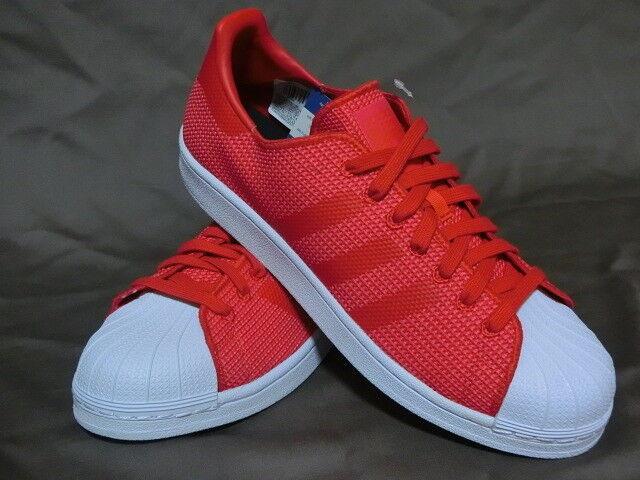 REGNO Unito misura 10-Adidas Originals Superstar   Da Ginnastica-Rosso-by8711