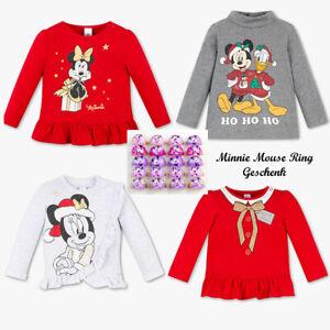 Detalles De Baby Disney Sudadera Blusa Mickey Minnie Mouse Navidad Brillo Nikolaus Ver Título Original