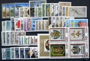 DDR-Jahrgang-1990-postfrisch-MNH-jede-MiNr-1x-mit-Block