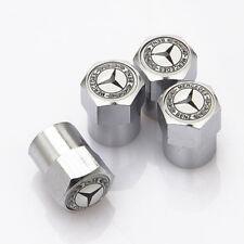 4x Car Tire Valve Dust Stems Air Caps Covers Accessories Logo For Mercedes-Benz