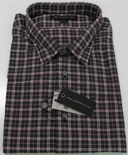 Details about  /John Varvatos Star USA Men/'s Long Sleeve Plaid Shirt Coal $119 msrp NWT #CO18