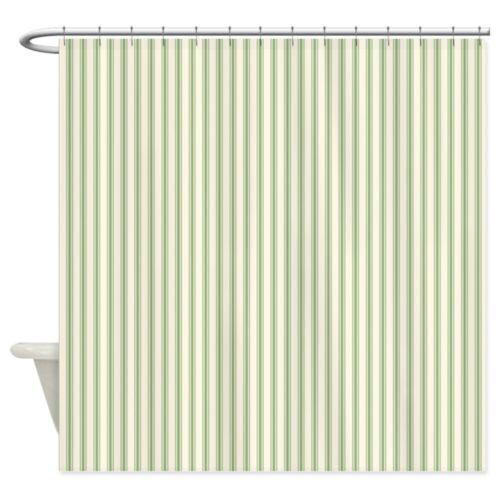 "1520225017 CafePress Green Ticking Decorative Fabric Shower Curtain 69/""x70/"""