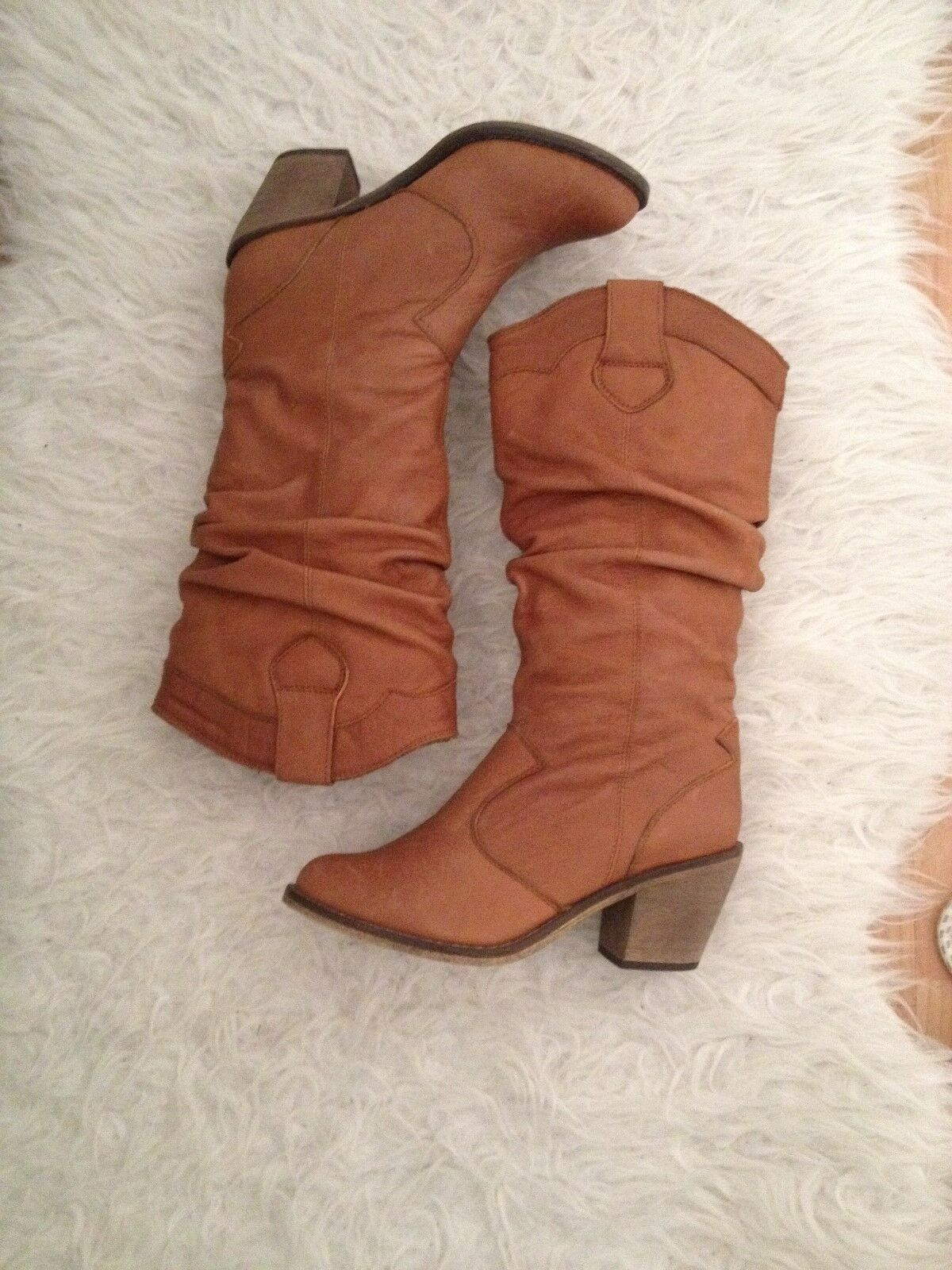 Brand new Steve Madden never boots tan size 3 never Madden used f581c0