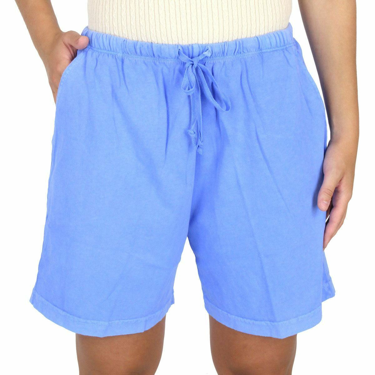 Womens 100% Cotton Jersey Summer Shorts - 100% Cotton - Made in USA