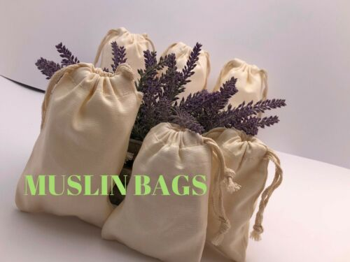 8x12 inch 100/% COTTON Ecofriendly Canvas Double Drawstring bags~25,50,100,200
