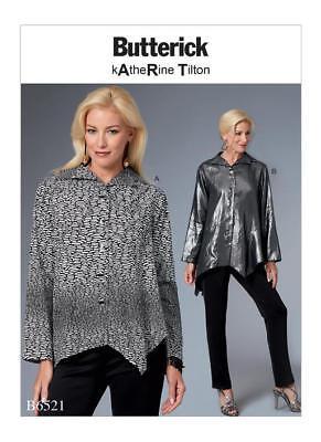 BUTTERICK SEWING PATTERN 6218 MISSES 16-24 KATHERINE TILTON LOOSE TOP PLUS SIZES