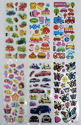 3D puffy bubble stickers scrapbook flower butterfly birthday gift collection
