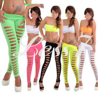 New Fashion Women Skinny Candy Color Jeggings Stretchy Sexy Hole Pants Leggings
