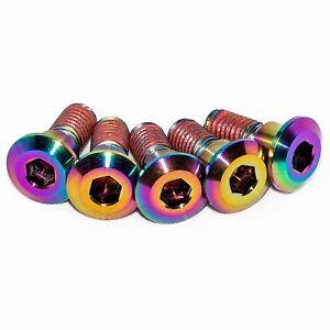 5x Gsxr750 K1 K2 K3 Rainbow Titanium Rear Disc Rotor Bolts With Threadlock