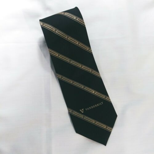 Vanderbilt University Men's Necktie 100% Silk, Bla
