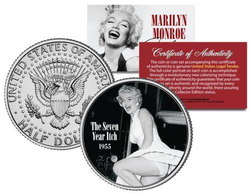 Marilyn Monroe THE SEVEN YEAR ITCH 1955 Movie JFK Half Dollar Licensed U.S Coin