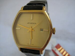 NOS-NEW-JUVENIA-GOLD-PLATED-AUTOMATIC-WATCH-SWISS-1960-039