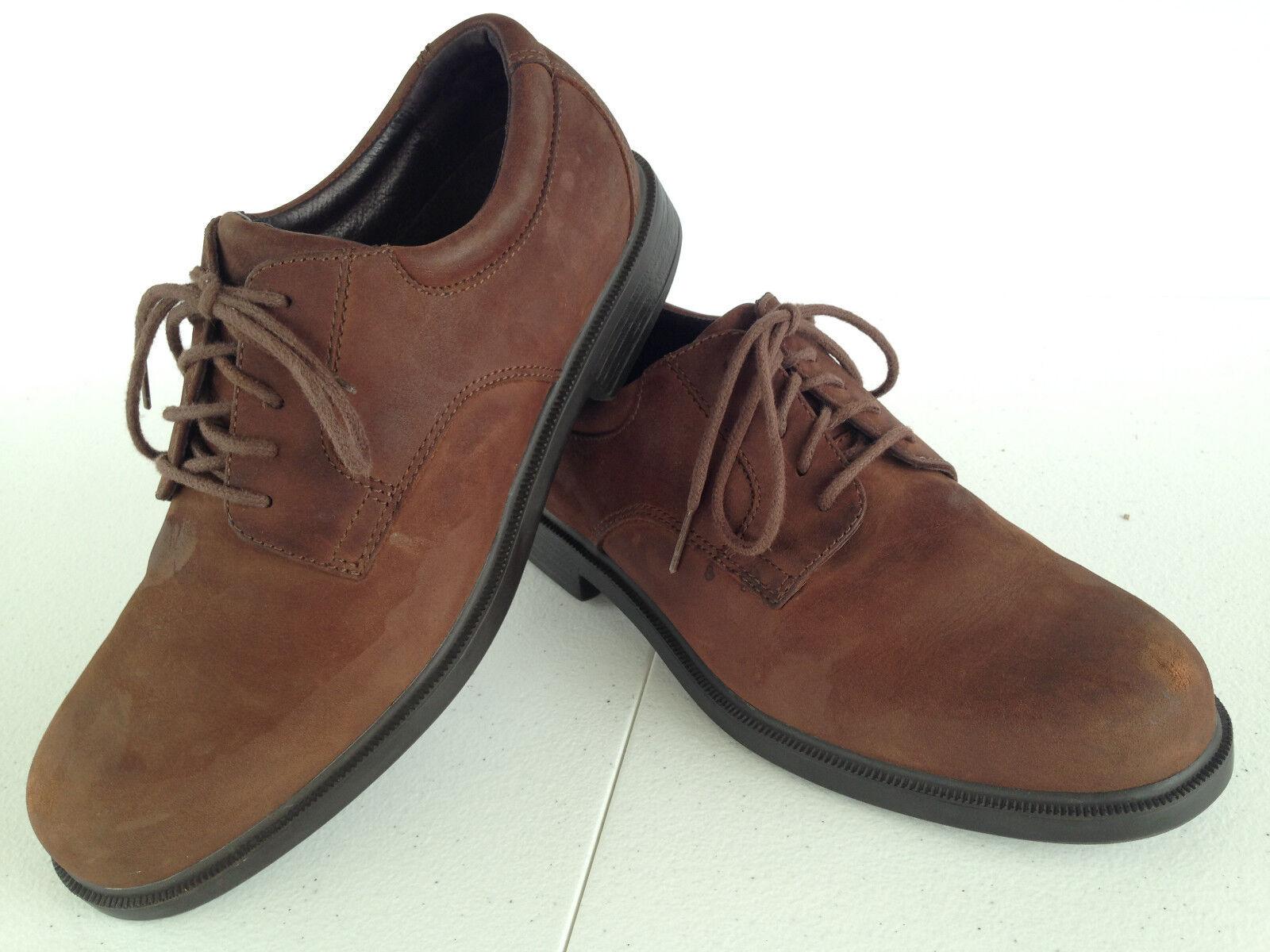 Rockport Mens M9409 Plain Toe Sz. Casual Brown Oxford Shoes Sz. Toe 7-1/2 M        F13(8 5997eb