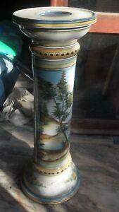 Portavaso-ceramica-DeRuta-dipinto-a-mano-anni-70