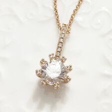"Shinning Round Cut Lab Diamond Pendant Charm Necklace 16"" Women Jewelry YW231"