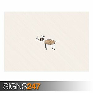 Photo Poster Print Art A0 A1 A2 A3 A4 AD624 FUNNY POSTER FUNNY DEER DRAWING