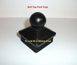 Fence-Post-Cap-50-x-50mm-Ball-Top