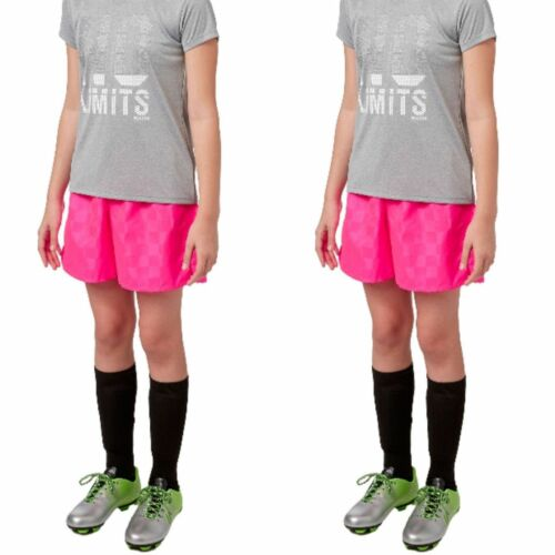 2 Pairs Youth Umbro Rio Youth Soccer Shorts NWT PINK SMALL R-570