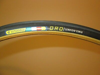 Vintage NOS Hutchinson Single Tubular Tire 700C Racing Bicycle Made in Italy