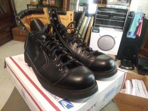 John Fluevog Boots, Size 14, Black Leather