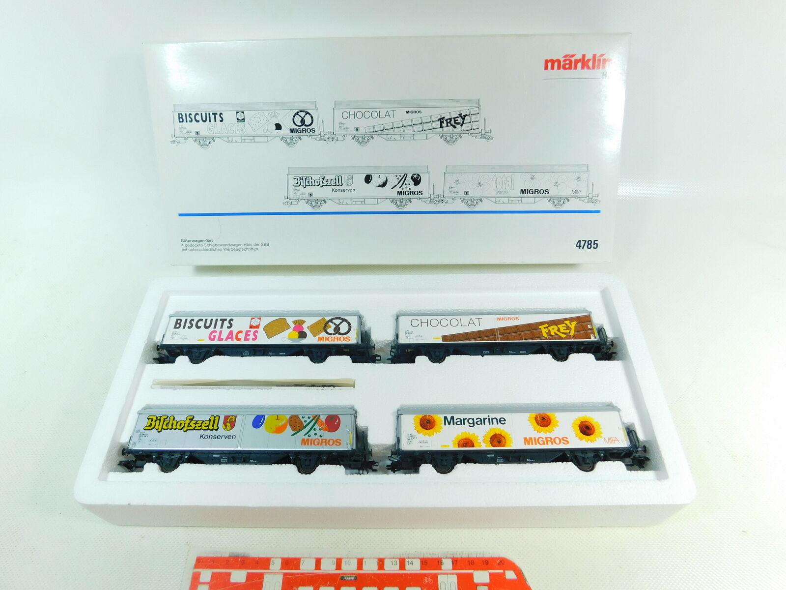 BU631-1Märklin H0 Ac 4785 Freight Car Set Migros Hbis Sbb-Cff Nem Kk, Nip