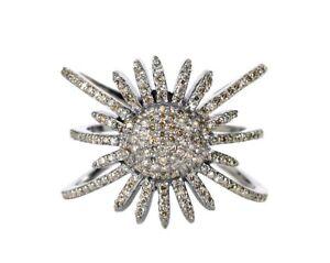 0-65Ct-100-Natural-Pave-Diamond-Sun-Burst-Shape-Antique-Ring-Sterling-Silver