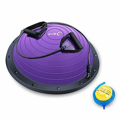 Nice C Balance Ball Balance Trainer Half Ball with Resistant Band Strength Ex...