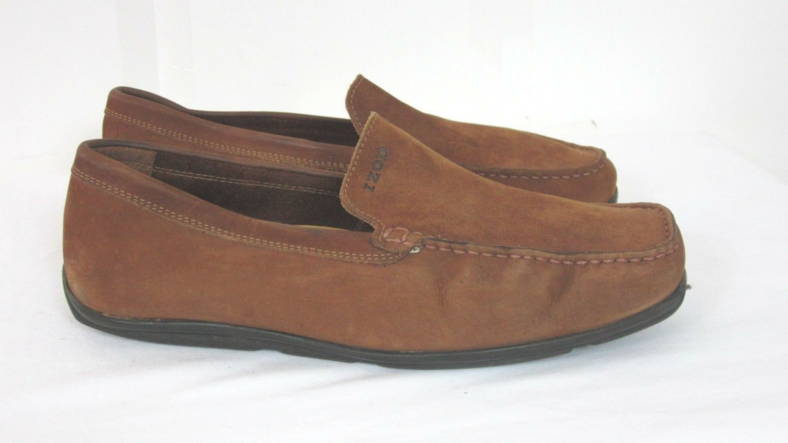 e19eb7f0287c Izod Mens Apex Slip On Loafers Loafers Loafers Shoes Tan Leather Driving  Moccasins Size 10 M