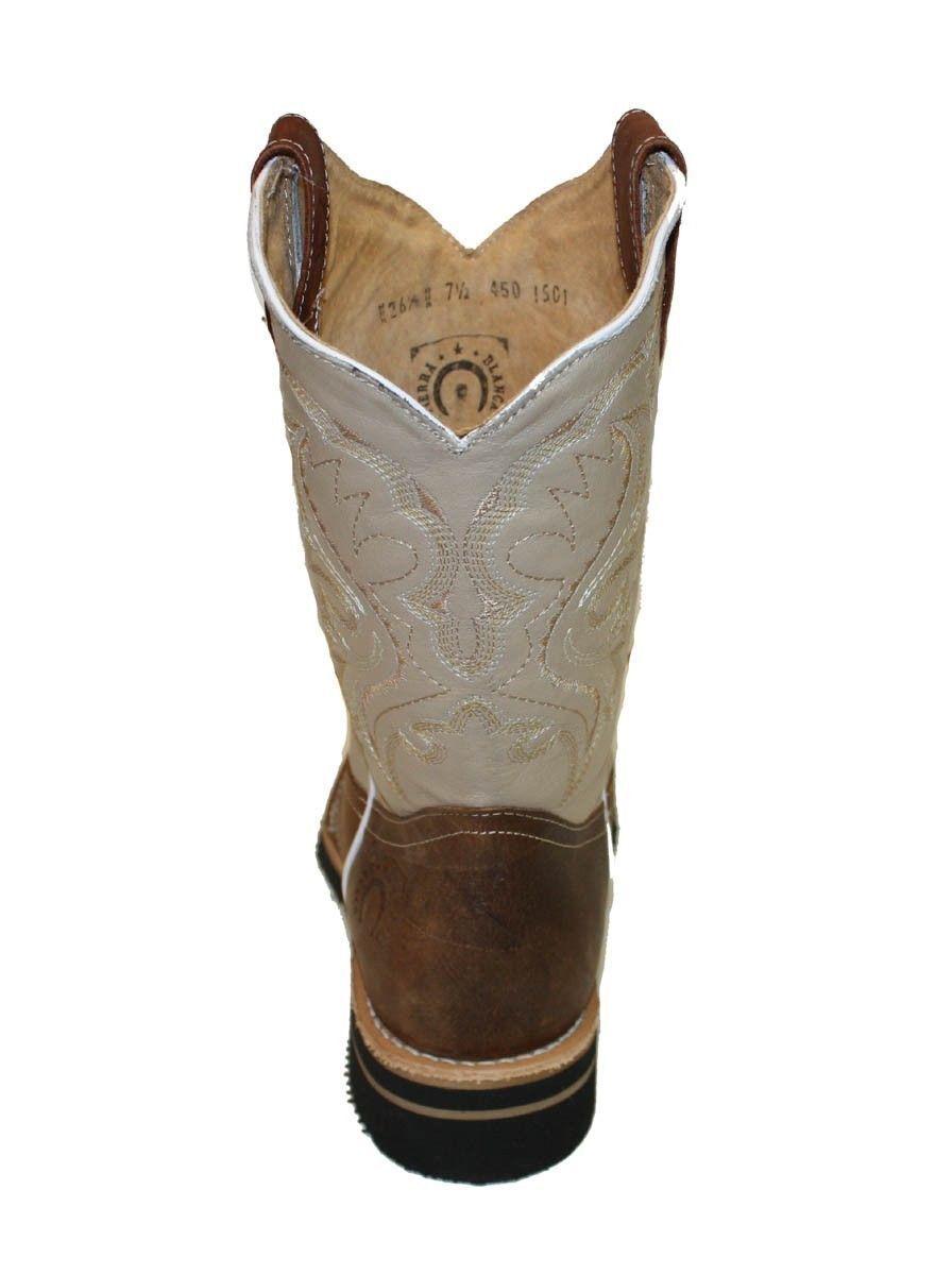 MEN'S RODEO COWBOY SQUARE BOOTS GENUINE LEATHER WESTERN SQUARE COWBOY TOE BOTAS-754 e465df