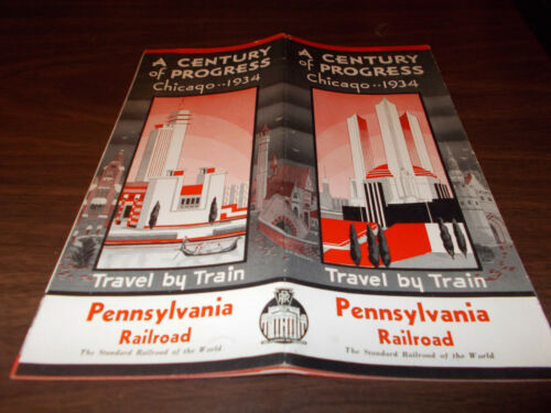 1934 Pennsylvania Railroad Century of Progress, Chicago 20page Travel Brochure