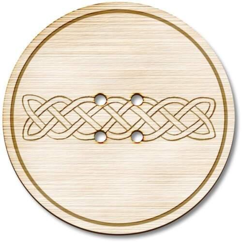 """BT000135 /""""celtique entrelacs/"""" en bois boutons"""