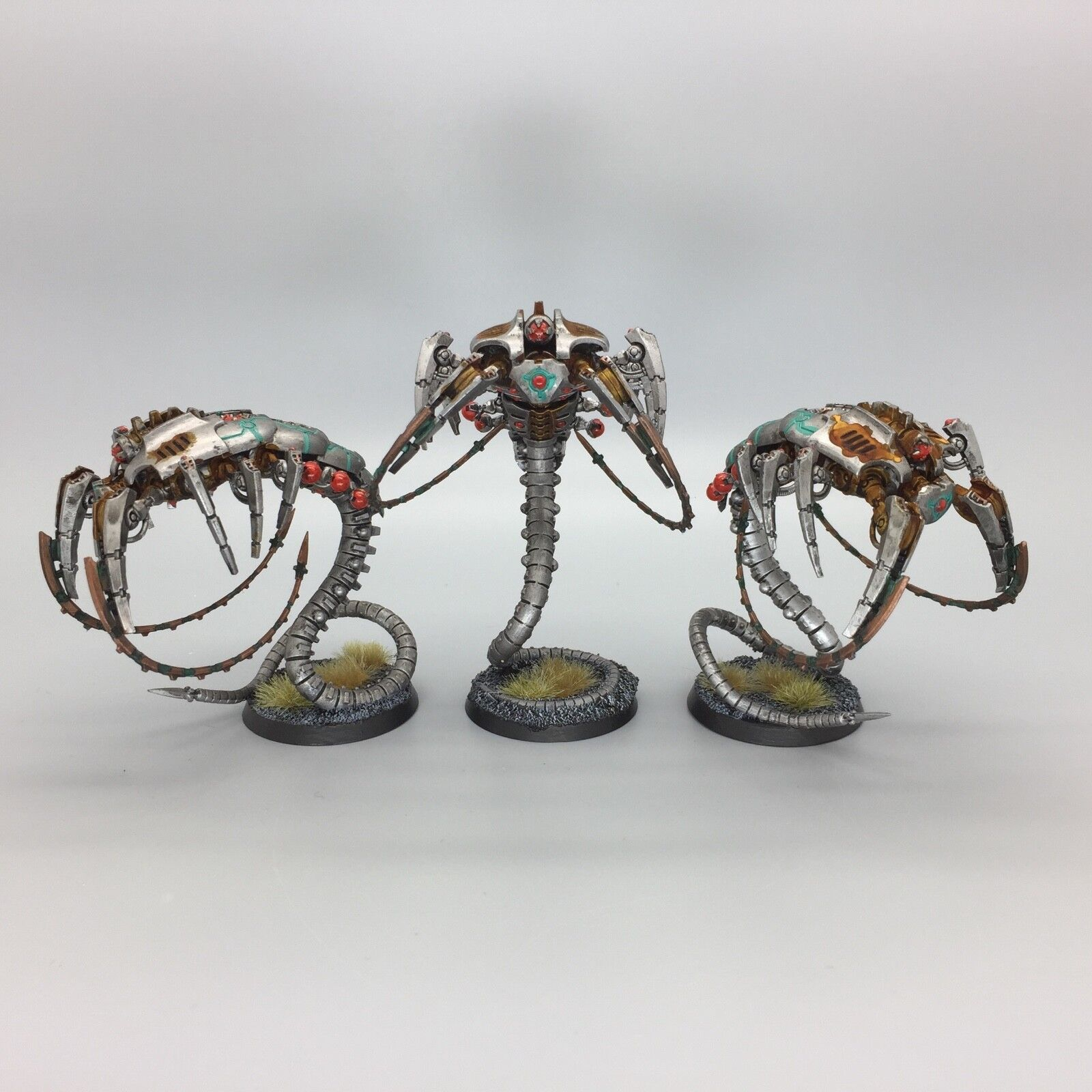 Warhammer 40.000 40k necron unsterblichen canoptek geister gemalt und auf