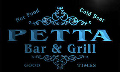 u34831-b PETTA Family Name Bar /& Grill Home Brew Beer Neon Sign