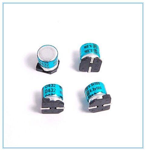 100UF 6.3V RUBYCON SMD ALUMINUM ELECTROLYTIC CAPACITORS.6.3X7MM. 10PCS