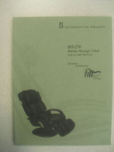 Human Touch Ht 270 Massage Chair Recliner Instruction