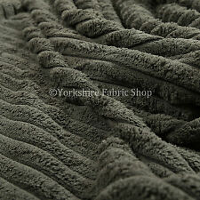 10 Meter Of Super Soft Grey Jumbo Corduroy Upholstery & Curtain Fabric Material