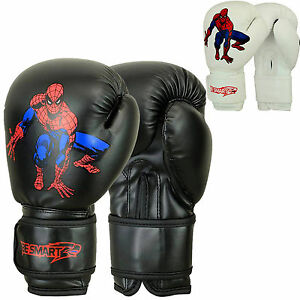 Details About Spider Man Kids Boxing Gloves Junior Mitts 4oz 6oz Punch Bag Children Mma Youth
