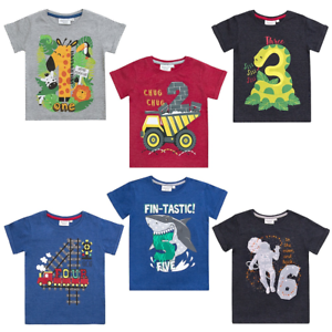 Image Is Loading Boys Birthday Number T Shirt Ages 1 2