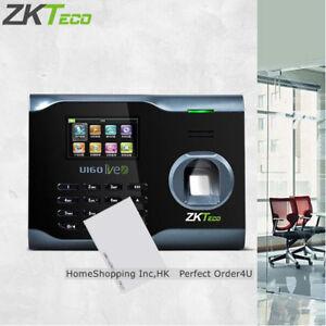 Details about ZKTeco Biometric Fingerprint + RFID Card Attendance Time  Clock+WiFi+TCP/IP+USB