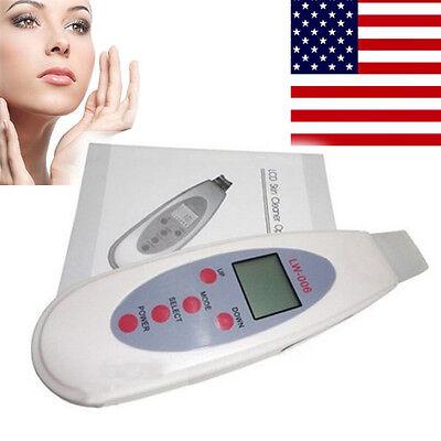 LW-006 Portable Digital Facial LCD Ultrasound Skin Scrubber Skin Care MW