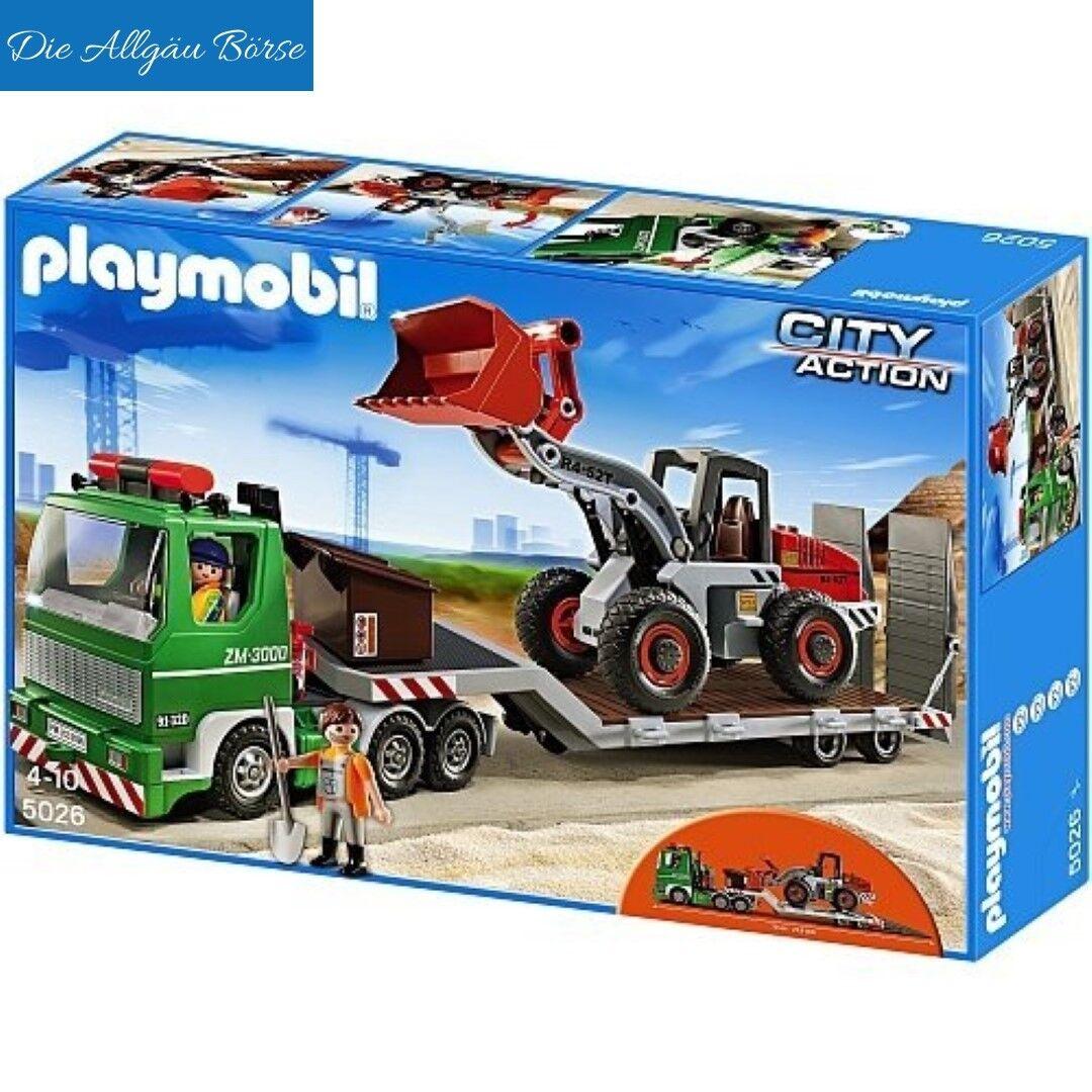 PLAYMOBIL 5026 remorque M. Glisseur City Action Spécial Edition chantier Nouveau neuf dans sa boîte