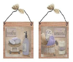 Bathroom-Pictures-Soothe-Unwind-Lavender-Purple-Bed-Bath-Wall-Hangings-Plaques