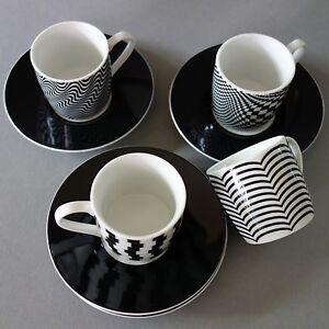 espressotassen black white schwarz wei 8tlg 4er set k nitz geschenkverpackung ebay. Black Bedroom Furniture Sets. Home Design Ideas