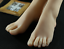 One-Pair-Silicone-High-Arch-Female-Mannequin-Feet-Model-Shoes-Displays miniature 6
